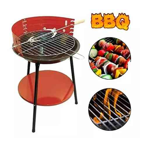 Portable Round Barbecue Grill Rack Oven For Camping Outdoor Accessories