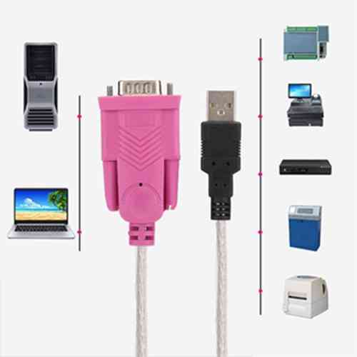 USB 2.0 to Serial RS232 9Pin Cable Converter Adapter Male to Male Computer Accessories