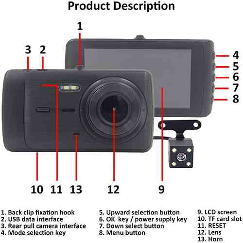 Vehicle Blackbox Dash Camera Full HD 1080P DVR DVR/Dash Camera