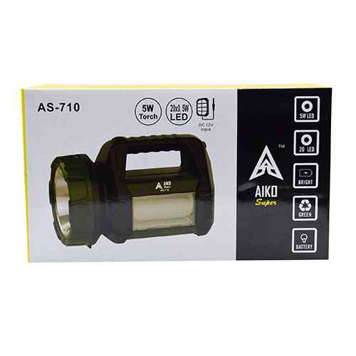 Aiko Super Rechargeable Torch AS710 Portable LED Light Home Needs