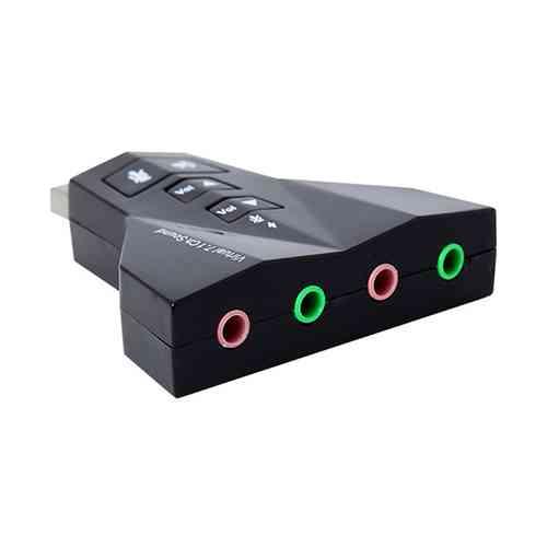 USB Sound Card Adapter External Virtual 7.1 Channel 3D Sound Card Computer Accessories