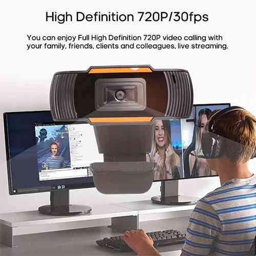 USB Web Camera with Built-in Microphone Web Camera