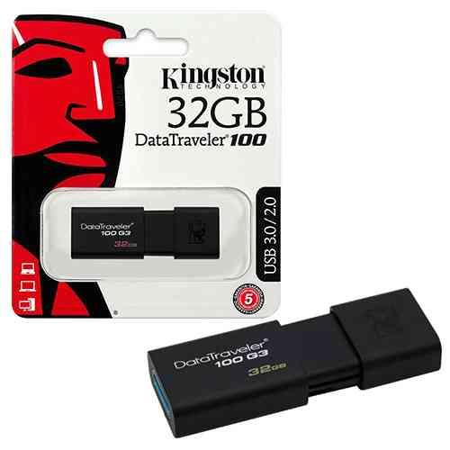 Kingston 32GB Pen Drive USB 3.0 Flash Drive DataTraveler 100 G3 Pendrives