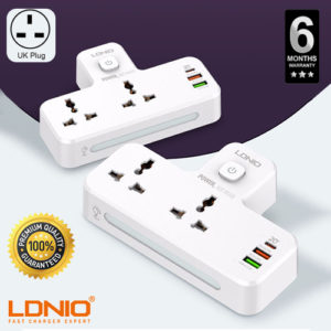 LDNIO Power Socket  2 Port with 2 USB and 1 USB-C PD & QC3.0 UK Plug Gadgets & Accesories