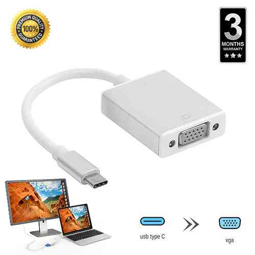 USB C to VGA Converter Adapter Type c to VGA Cable USB 3.1 Computer Accessories