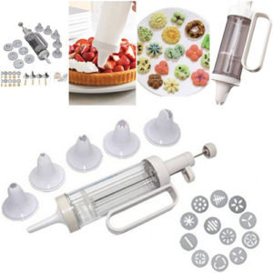 Cookie Press and Cake Decorator set 18pcs Biscuit Shaper Baking Kitchen Set Bakeware