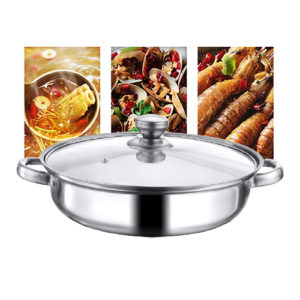 Hot Pot Food Warmer stainless steel 1 layer Sauce Pot Kitchen & Dining