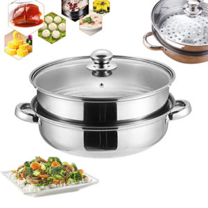 Multifunction Food Steamer Pot Steaming Cookware Kitchen Tool Kitchen & Dining