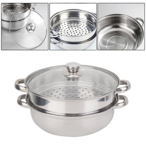 Stainless Steel Steamer Pot Cooker Double Boiler Soup Steaming Pot Kitchen & Dining